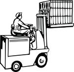 Free Clipart Of A Forklift