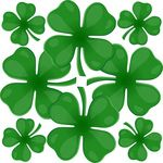 Free Clipart Of Four Leaf Clover Leaves