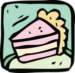 Free Clipart Of A Cake Slice