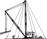 Free Clipart Of A Derrick
