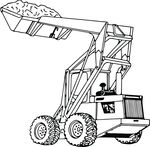 Free Clipart Of A Tractor Loader