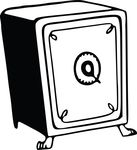 Free Clipart Of A Safe