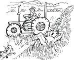 Free Clipart Of A Farmer And Lazy Son