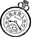 Free Clipart Of A Pocketwatch