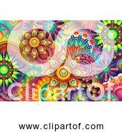 Free Clipart Of Colorful Psychedelic Abstract Garden Background