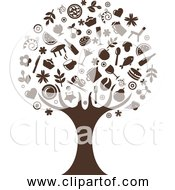 Free Clipart Of Abstract Tree Silhouette