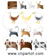 Free Clipart Of Simple Farm Animals Version Set 2