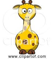 Free Clipart Of Cute Cartoon Giraffe