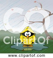 Free Clipart Of Rain Showers With Cartoon Penguin