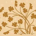 Free Clipart Of A Background Of Brown Silhouetted Clovers