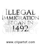 Free Clipart Of Illegal Immigration Began In 1492