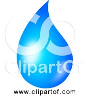 Free Clipart Of Water Drop Shaded Version