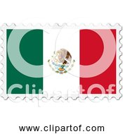 Free Clipart Of A Mexico Flag Stamp