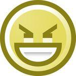 Free Evil Smiley Face Grinning Clip Art Illustration