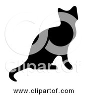 Free Clipart Of A Black Cat Silhouette