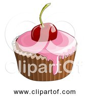 Free Clipart Of A Cherry Cupcake