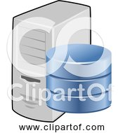 Free Clipart Of A Database Server With 3 Hard Drive Cells