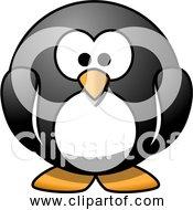 Free Clipart Of A Cartoon Penguin