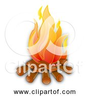 Free Clipart Of A Nice Hot Campfire