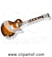 Free Clipart Of A LP Guitar With Flame Top Finish