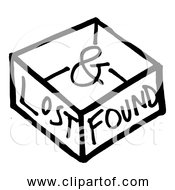 Free Clipart Of Lost And Found Box