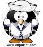 Free Clipart Of Cartoon Sailor Penguin