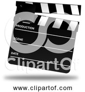 Free Clipart Of A Movie Clapper Board