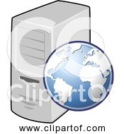Free Clipart Of Web Server Globe