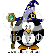 Free Clipart Of A Cartoon Wizard Penguin
