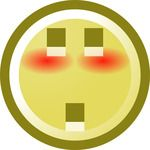 Free Blushing Smiley With Shocked Expression Clip Art Illustration