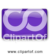 Free Clipart Of Violet Rectangle Button