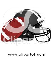 Free Clipart Of American Football And Helmet