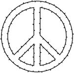 Free Clipart Of A Peace Symbol Made Of Thorns