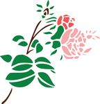 Free Clipart Of A Stem Of Roses