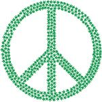 Free Clipart Of A  Green Peace Symbol Made Of Marijuana Leaves