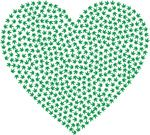 Free Clipart Of A Love Heart Made Of Marijuana Leaves