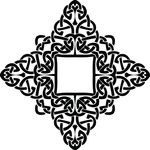 Free Clipart Of A Celtic Diamond Frame Border Design Element In Black And White Knots