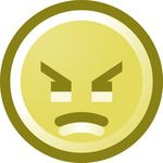 Free Angry Smiley Face Clip Art Illustration