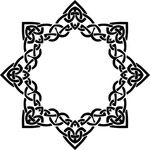 Free Clipart Of A Celtic Frame Border Design Element In Black And White Knots