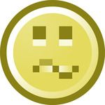 Free Confused Smiley Face Clip Art Illustration