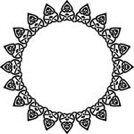 Free Clipart Of A Celtic Round Frame Border Design Element In Black And White Knots