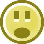 Free Shocked Smiley Face Clip Art Illustration