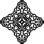 Free Clipart Of A Cross Black And White Celtic Knot