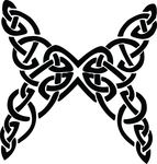 Free Clipart Of A Butterfly Black And White Celtic Knot