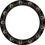 Free Clipart Of A Fancy Greek Vignette Design Frame