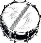 Free Clipart Of A Snare Drum