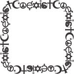 Free Clipart Of A Coexist Square Frame
