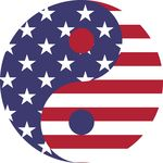 Free Clipart Of A Fourth Of July American Yin Yang