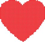 Free Clipart Of A Mosaic Heart In Red
