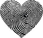 Free Clipart Of A Thumb Print Heart